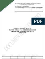 CNS-NT-11-14 Ductos, Curvas y Accesorios Metálicos