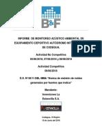 Informe de Monitoreo Acustico Ambiental AIC 05, 07, 08 y 09-06-2018