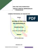 Informe de Practicas Pre Profesionales u