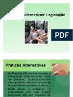 Práticas Alternativas Legislação