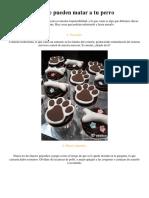 10 Alimentos Que Pueden Matar a Tu Perro