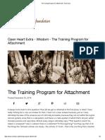 The Training Program for Attachment - Ram Dass