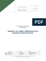 PE-PRY-043 REV.0 - ADQUISICION, USO, CUIDADO Y MANTENIMIENTO DE LOS ELEMENTOS DE PROTECCION PERSONAL.doc