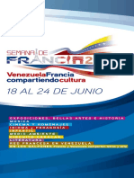 Desplegable Web Semana de Francia en Venezuela 2018