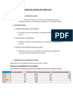 Informe de Sondeo de Mercado
