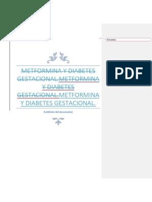 metformina durante el embarazo diabetes diabetes gestacional
