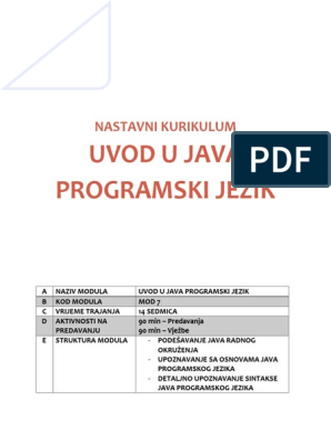 Java program za upoznavanje