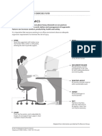 Office Ergonomics and Exercises Flyer