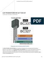 Los Transistores Universales BC327 y BC337