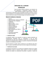 Destilacion de La Gasolina