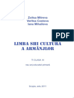 Limba shi cultura a Armanjlor - Ti clasa III