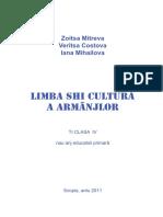 Limba shi cultura a Armanjlor - Ti Clasa IV