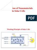 Application in Solar Cells