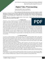Survey on Digital Video Watermarking