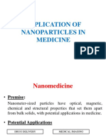Application of Nanoparticles in Medicine