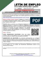 136 -18 Boletin Informativo Empleo Publico Escala Auxiliar Administrativa Universidad Complutense de Madrid 6-06-2018