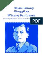 Tanong-Sagot Hinggil Sa Wikang Pambansa