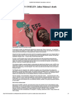 GARETH VAN ONSELEN- Julius Malema's Death Cult