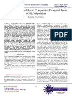 A Review Paper of Basic Comparator Design & Issue of Old Algorithm