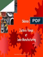 Séance 3. Et Lean Manufacturing. JAT Et LM. Séance 3 - Juste à Temps Et Total Quality Management. Corine Bardel
