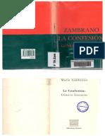La confesión de María Zambrano