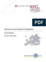 Discourse and European Integration
