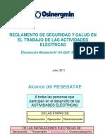 05.Reglamento de seguridad y salud en el trabajo de las actividades electricas RESESATAE - Ing. Miguel Benites.pdf