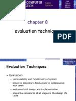 HCI-lecture Chp9 (Evaluation Techniques)