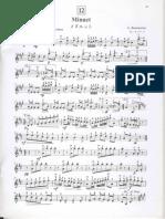 Minuet Violin Part