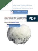 Supplier of Dolomite Best Price Indonesia Pratibha Refractory