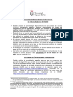 Convalidacion Extraordinaria Fin Carrera de Idioma Moderno 2017-18
