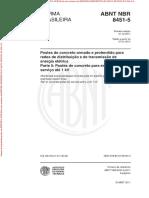 NBR8451-5 -Postes de Concreto