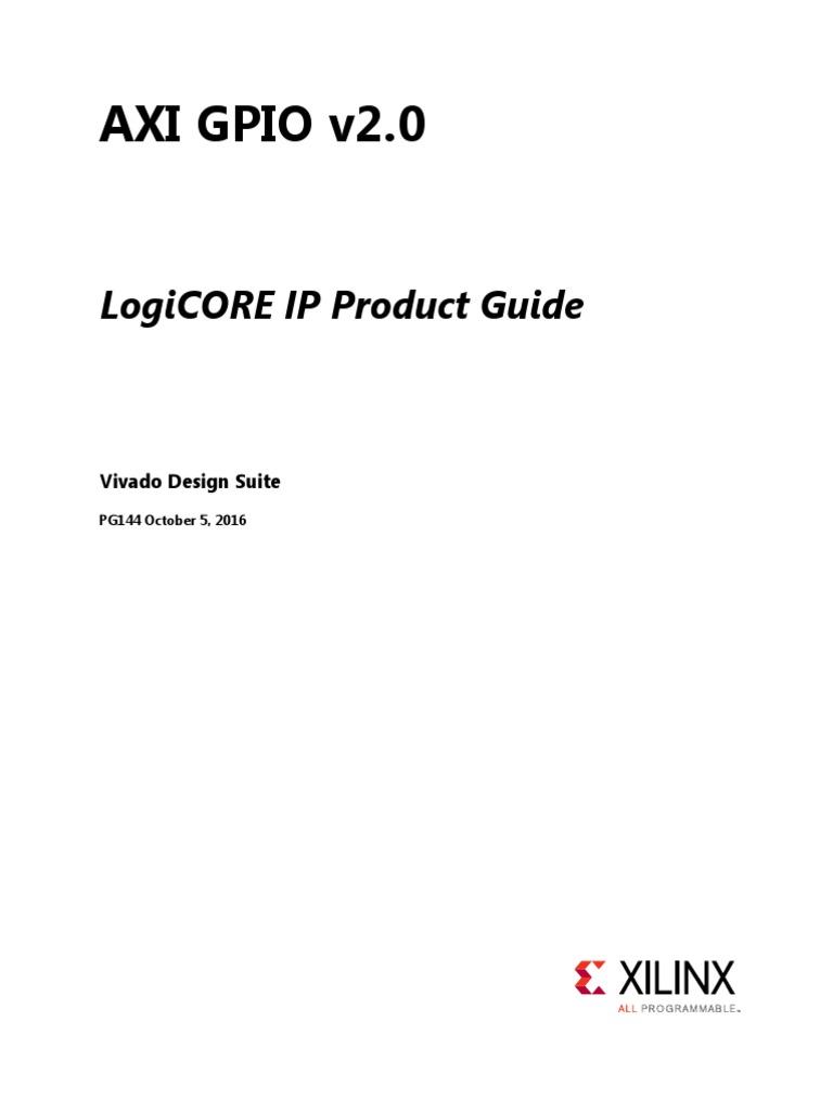 Pg144 Axi Gpio | Input/Output | Vhdl