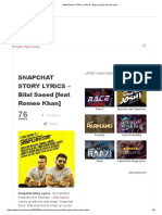 Snapchat Story Lyrics - Bilal Saeed _ Romee Khan