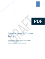 Interim Leased Channel Policy - Draft