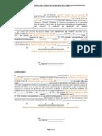 Modelo de Documento de Cesion Por Parte de Terceros de Derechos de Cobro Derivados de Operaciones Comerciales Con Esta Diputacion Provincial