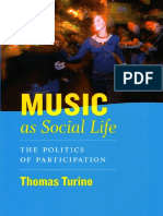 Turino, Thomas. Music as Social Life