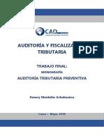 Auditoría y Fiscalización Tributaria