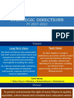 DepEd Strategic Directions