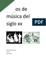Estilos de Musica Del Siglo Xx