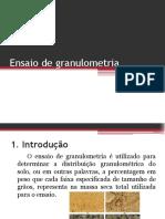 Apresentação Granulometria