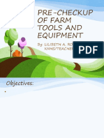 Pre Checkup of Farm Tools and Equipments