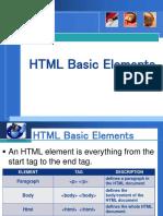 Lesson 6 - HTML Basic Elements