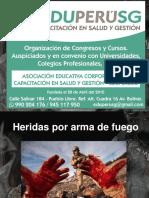 CONFERENCIA HERIDAS POR ARMA DE FUEGO