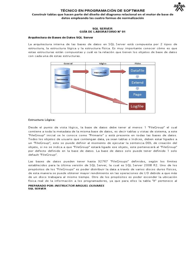 Guía N 1 Sql Server Management Studio Microsoft Sql Server