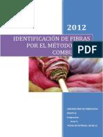 104906864 Laboratorio 2 de Fibrologia Identificacion de Fibras Por Combustion