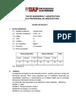 Silabo de Inglés II - Arquitectura 2018-1a