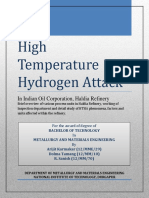 High Temperature Hydrogen Attack