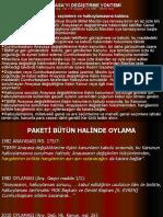 A.SEZER - 2010 Any. değ. paketi - oylama yöntemi