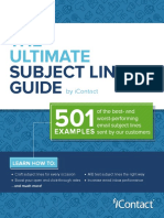 Ultimate Subject Line Guide by IContact
